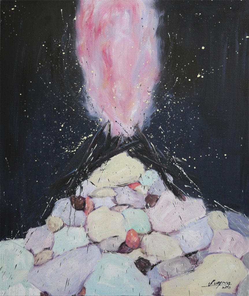 《火起时有烟花飞舞》,布上油画,100X120cm ,薛扬,2016年.jpg副本 2