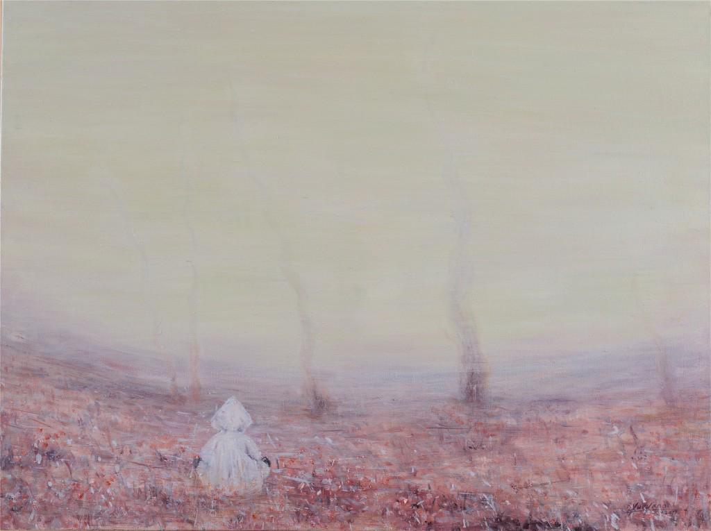 《罂粟色的记忆》,布上油画,60X80cm ,薛扬,2017年
