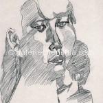 女子二 26cm x 23cm 纸本手绘 铅笔 1994年_副本