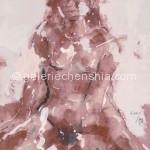 女子 Girl 60cm x 47cm 宣纸、彩墨 2007年_副本
