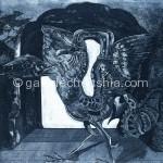 楚国游记之一·鱼变凤 铜版 52cm x 39cm 1991年_副本