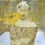 洗发人 宣纸手绘 彩墨 55×60cm  1997 副本_副本
