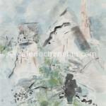 10景东之一 墨、水性色、宣纸 77×66cm 2006年_副本