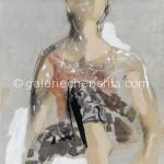 36女子 墨、水性色 48×40cm 2001年_副本
