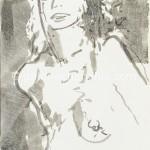 39女子 墨、宣纸 60×42cm 2005年_副本