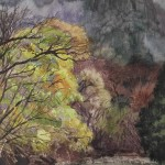 Bai Tongxu 白统绪,Mount Myogi Stream 妙義山溪流,Watercolor on Paper 纸本水彩,51.7 x 37.5 cm, 1991_副本