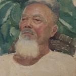Bai Tongxu 白统绪,Old Worker 二七老工人,Watercolor on Paper 纸本水彩,17.5 x 24.5 cm, 1960_副本