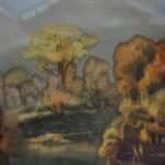 Bai Tongxu 白统绪,The Charming Autumn 秋之韵,Watercolor on Paper 纸本水彩,53 x 75 cm, 1990_副本