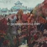 Bai Tongxu  白统绪  Autumn Twilight  秋暮    Watercolor on Paper  纸本水彩   1979年   34 x 34 cm_副本
