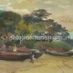 Bai Tongxu  白统绪  Dawn  晨  Watercolor on Paper  纸本水彩   1962年   19.3 x 26.7 cm_副本