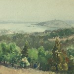 Bai Tongxu  白统绪  Luojia Mountain Scenery  珞珈山风景    Watercolor on Paper  纸本水彩   1957年   23.5 x 34.2 cm_副本