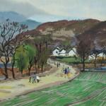 Bai Tongxu  白统绪  Rush  赶场  Watercolor on Paper  纸本水彩    1962年   27 x 39.4 cm_副本