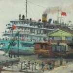 Bai Tongxu  白统绪  Setting Sail  启航     Watercolor on Paper  纸本水彩   1963年   27 x 39.2 cm_副本