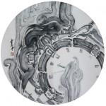 12《物语·永恒之五》-纸本水墨-33X33CM-2012年