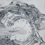 16《物语·永恒之九》-纸本水墨-33X33CM-2012年