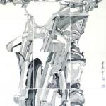 3《骊影·单枪匹马》-纸本水墨-90×180cm-2012年