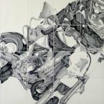 5《骊影·龙腾虎跃》-纸本水墨-180x120cm-2012年