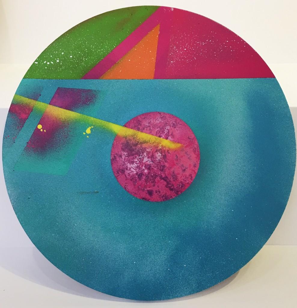 《糖》布面喷漆 直径50cm